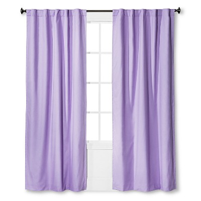 Twill Blackout Curtain Panel Lavender (42 x95 )- Pillowfort™