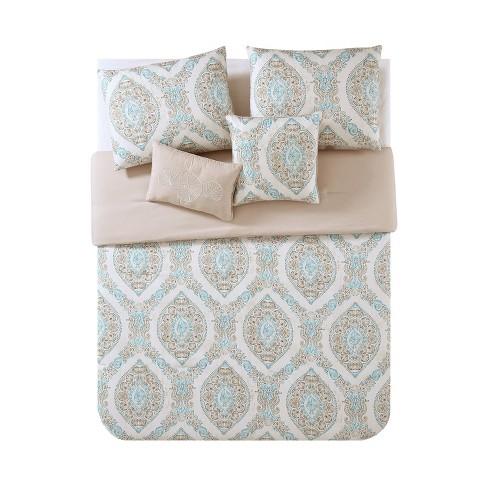 Sea Damask Comforter Set - VCNY Home - image 1 of 2