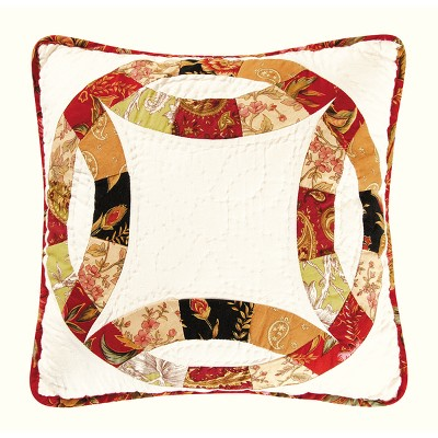 """C&F Home 14"""" x 14"""" Colleen's Wedding Ring Quilted Pillow"""