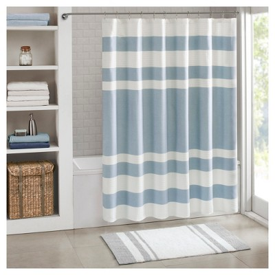 Spa Waffle Shower Curtain - Blue