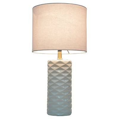 Faceted Ceramic Accent Table Lamp (Includes CFL Bulb)   Room Essentials™ :  Target