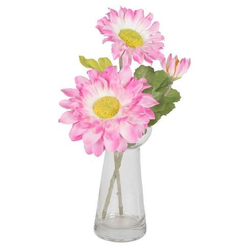 Artificial Gerbera Daisy Vase 9 Pink Vickerman Target