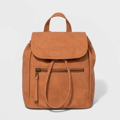 Mini Flap Backpack - Universal Thread™ Light Brown