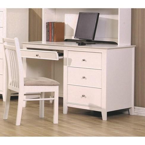 Sienna Drawer Storage Computer Desk White - Private Reserve - image 1 of 2