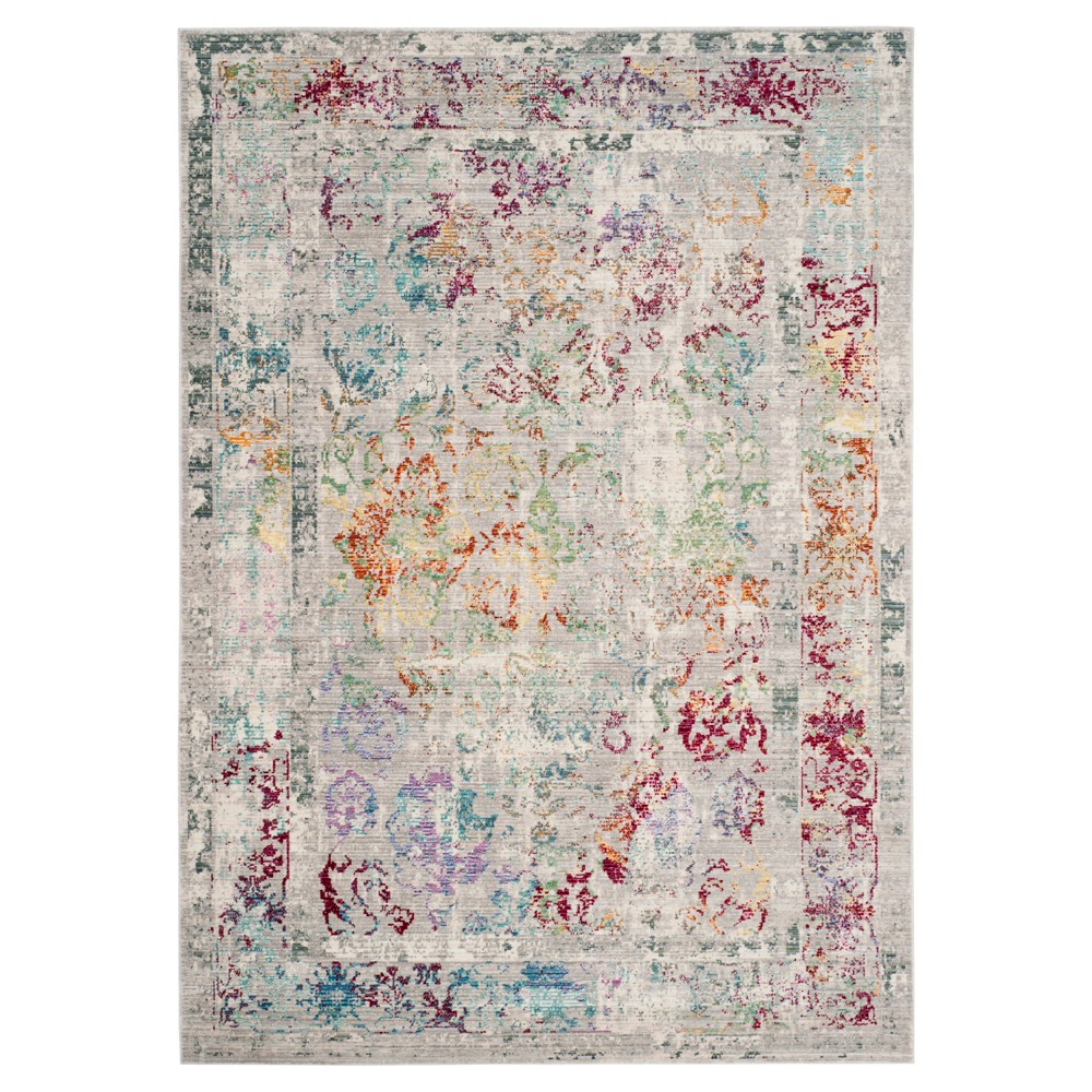 Gray Multi Burst Loomed Area Rug 6'x9' - Safavieh