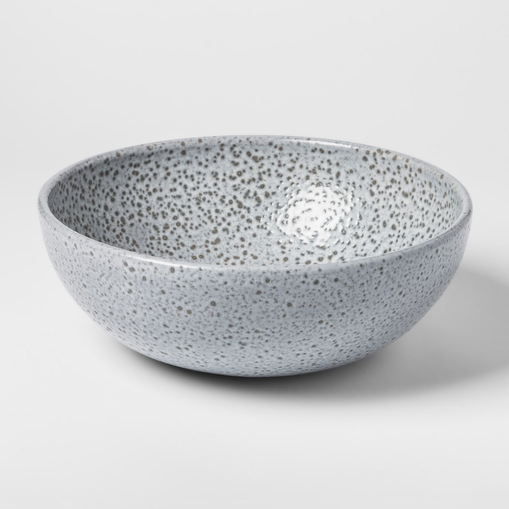 Decorative Earthenware Bowl - Grey/Black - Threshold, Gray