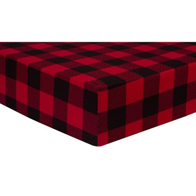 Trend Lab Fitted Crib Sheet - Buffalo Check