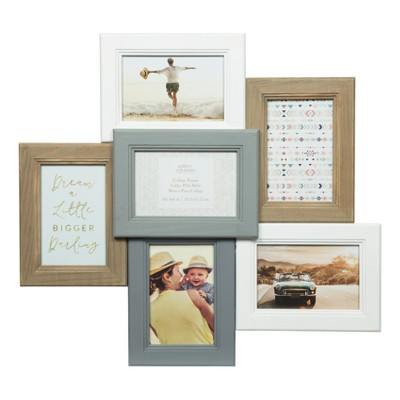 Multiple Image 6 Opening Dimensional Collage Frame - Gallery Solutions