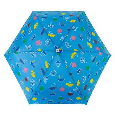 Cirra by ShedRain Women's Fun Conversational Manual Compact Umbrella - Light Mint