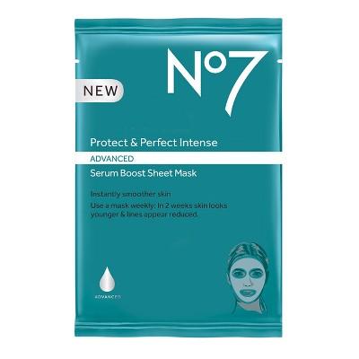 No7 Protect & Perfect Intense Advanced Serum Boost Face Mask Sheet - .73oz