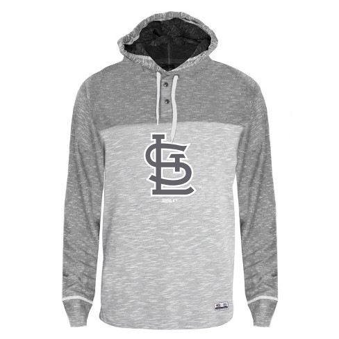 MLB St. Louis Cardinals Men's Clubhouse Tonal Henley Hoodie - image 1 of 1