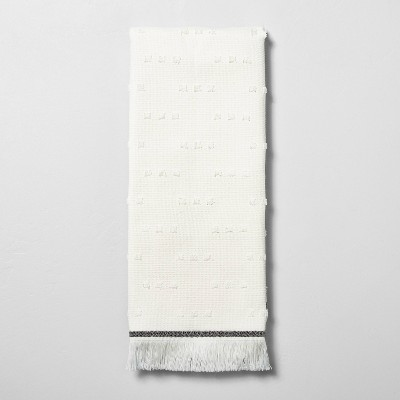 Fouta Texture Dots Hand Towel Sour Cream/Railroad Gray - Hearth & Hand™ with Magnolia