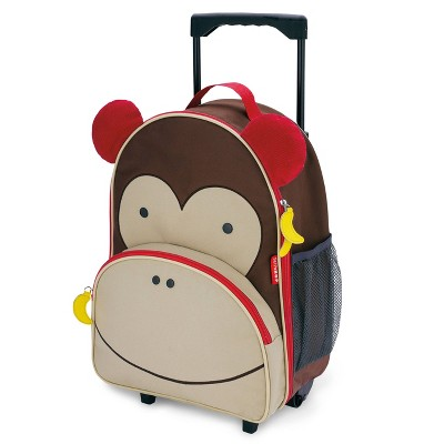 Skip Hop Zoo Little Kid & Toddler Rolling Carry On Suitcase - Monkey