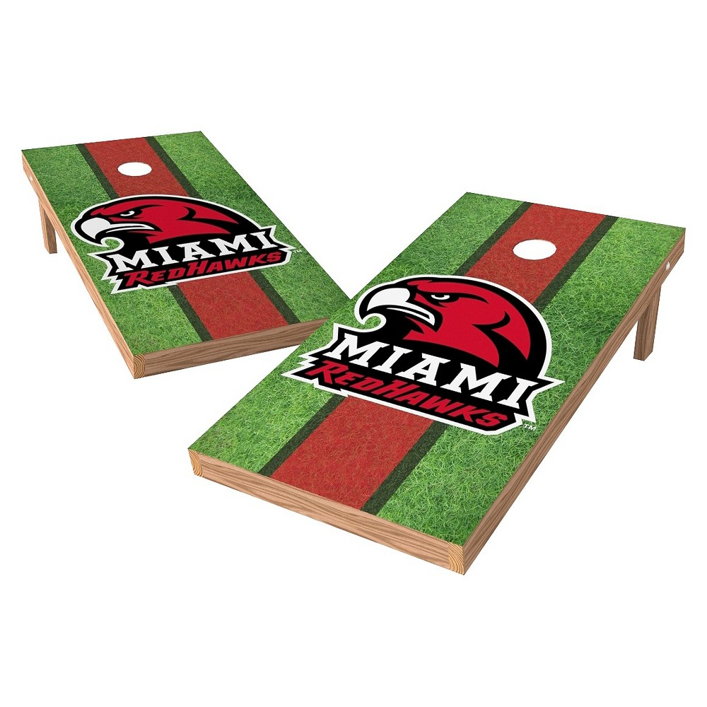 NCAA Miami University RedHawks Wild SportsField Design Authentic Cornhole Set - 2'X4'