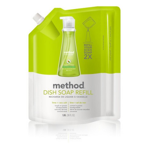 Method Lime + Sea Salt Liquid Dish Soap Refill - 36oz - image 1 of 2