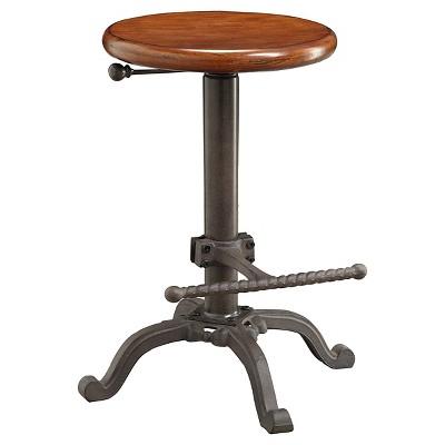 Jackson Adjustable Barstool Metal/Chestnut - Carolina Chair & Table