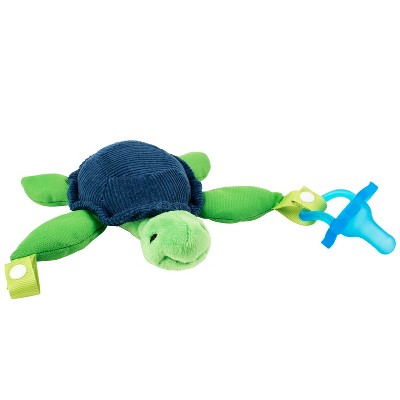 Dr. Brown's Turtle Lovey with Blue One-Piece Pacifier - Green/Blue