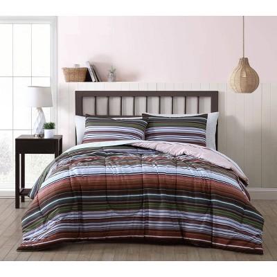 Haze Stripe 7pc Comforter Set - Geneva Home Fashion