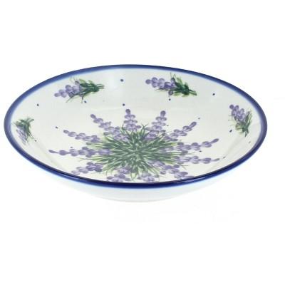 Blue Rose Polish Pottery Lavender Fields Large Salad Bowl