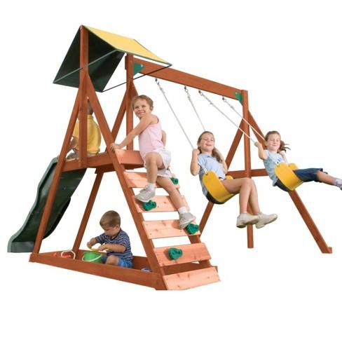KidKraft Sunview II Wooden Swing Set/Playset - image 1 of 4