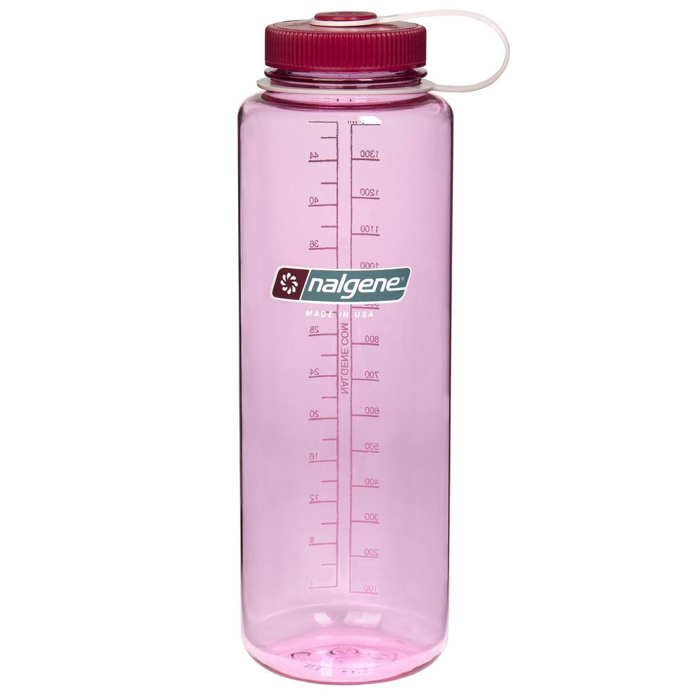 Nalgene Wide Mouth Tritan 48oz Water Bottle Pink Silo