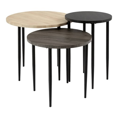 Set Of 3 Round Nesting Coffee Tables Birch Saracina Home