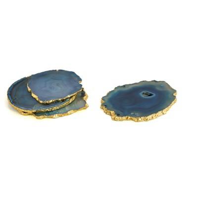 Set Of 4 Agate Coasters - Shiraleah