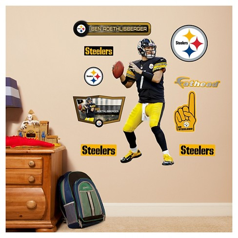 NFL Pittsburgh Steelers Ben Roethlisberger Fathead Wall Decal Set - image 1 of 1