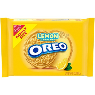 Oreo Lemon Flavor Creme Golden Sandwich Cookies Family Size - 20oz