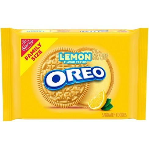 Oreo Lemon Creme Golden Sandwich Cookies Family Size - 20oz - image 1 of 4
