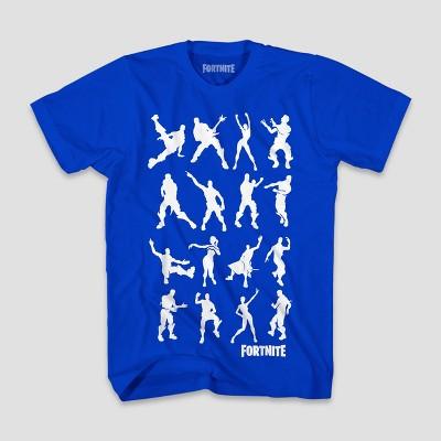 8b62b43aeec59 Boys' Fortnite Dance Dance Short Sleeve T-Shirt – Royal Blue M ...