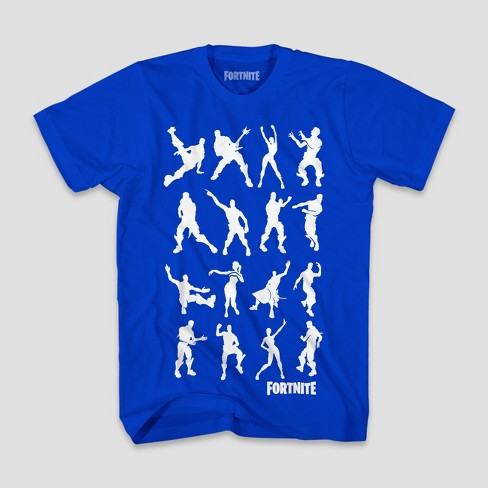 08379e8f1 Boys' Fortnite Dance Dance Short Sleeve T-Shirt - Royal Blue : Target