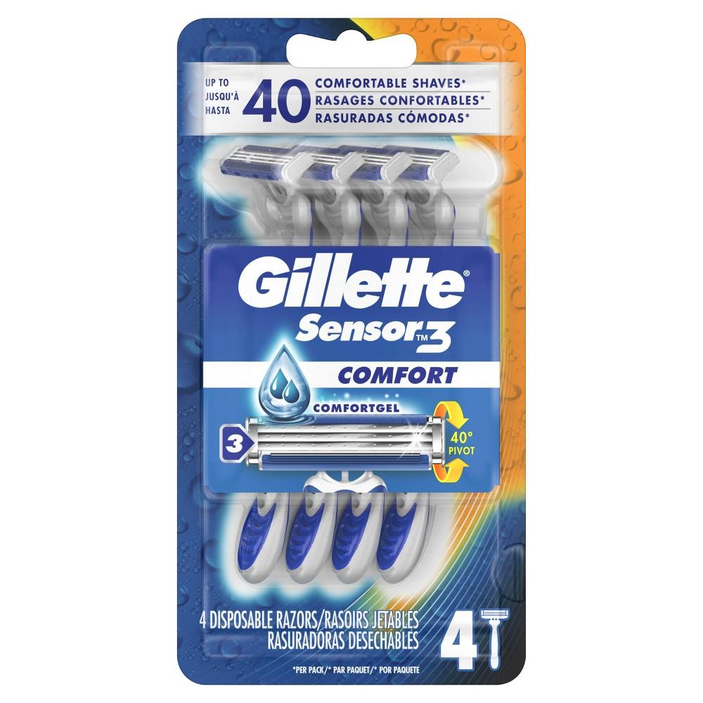 Image of Gillette Sensor3 Men's Disposable Razors - 4ct