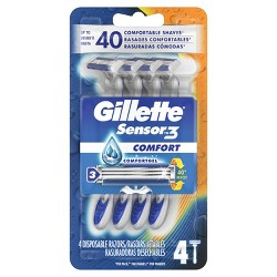 Gillette Sensor3 Men's Disposable Razors - 4ct
