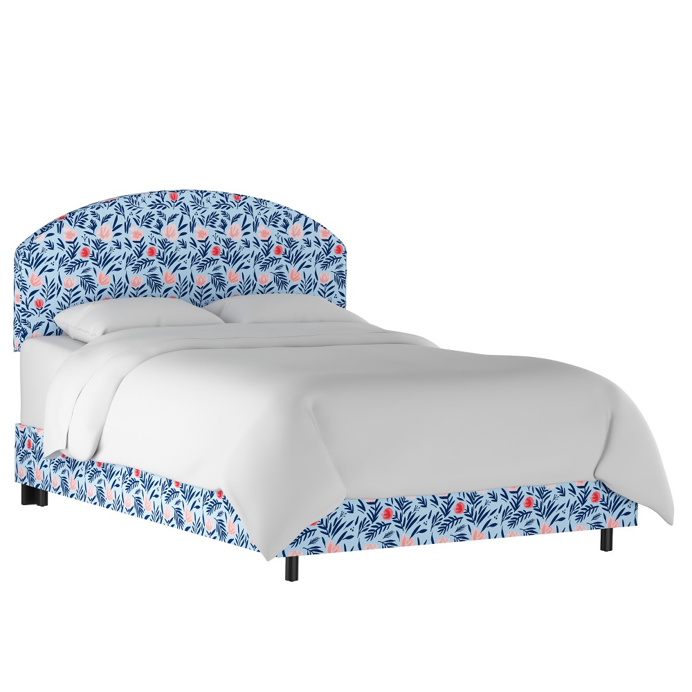 Angie Curved Bed Full Darcy Bloom Porcelain Blush - Cloth & Co.