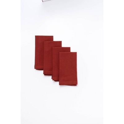 4pk Cotton Easy Care Napkins Red - Threshold™
