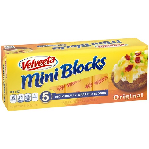 Velveeta Mini Cheese Blocks - 5ct - image 1 of 3