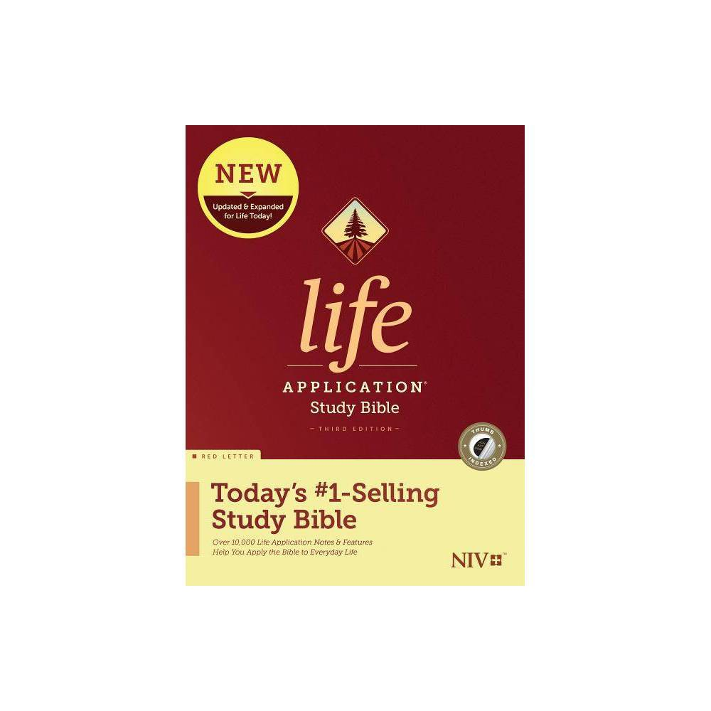 Niv Life Application Study Bible Third Edition Red Letter Hardcover Indexed