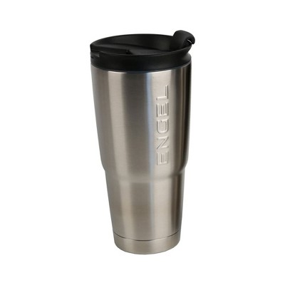 Engel ENGT22 22 Ounce Stainless Steel Vacuum Insulated Drinking Coffee Smoothie Beverage Spill Proof Tumbler Travel Mug, Silver