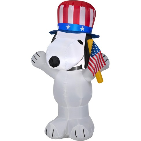 Gemmy Airblown Inflatable Patriotic Snoopy, 3.5 ft Tall, white - image 1 of 2