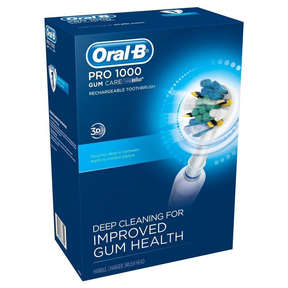 Oral-B Pro 1000 Rechargeable Electric Toothbrush for Gum Care