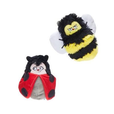 BARK Ladybug and Bee Dog Toy - Simone & Jean-Paul the Love Bugs