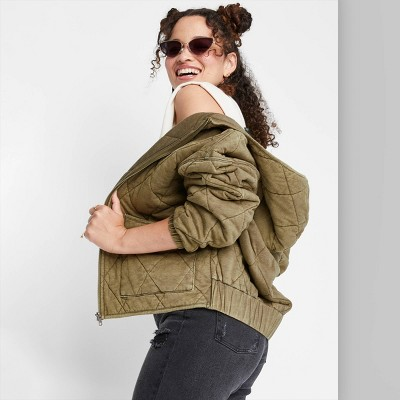 Women's Hooded Quilted Jacket - Wild Fable™