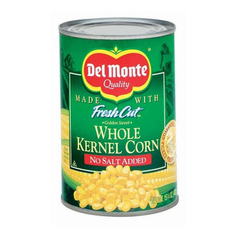 Del Monte Fresh Cut No Salt Added Golden Sweet Whole Kernel Corn 15.25 oz - image 1 of 1