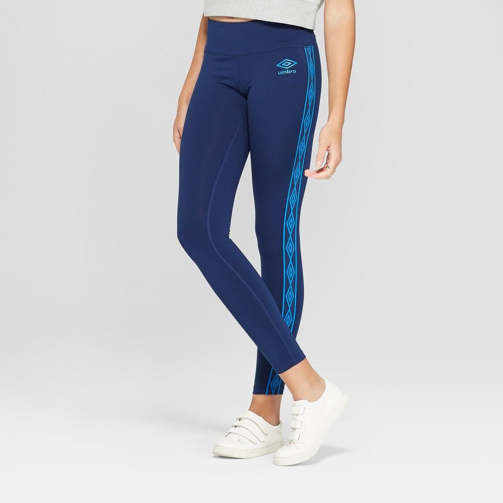 Umbro Women's Logo Taped Mid-Rise Leggings - Dark Blue Xxl