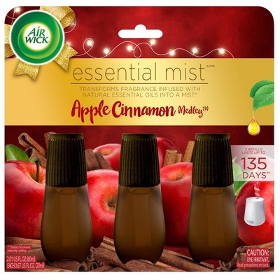 Air Wick Essential Mist Refill Air Freshener - Apple Cinnamon Medley - 3pk/2.01oz
