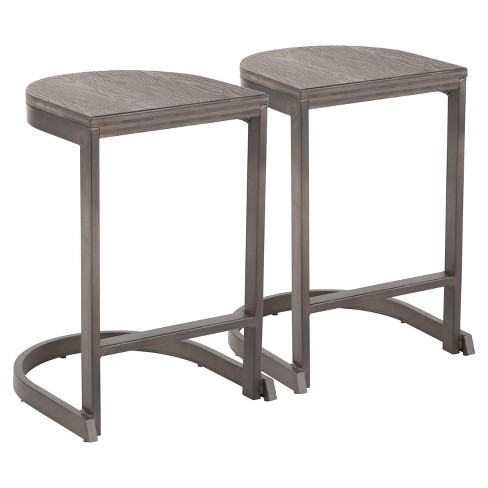 release date: 64c5b d60a0 Set of 2 Industrial Demi Counter Stools - LumiSource