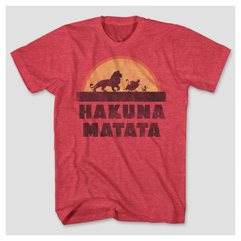 Men's Big & Tall The Lion King™ Hakuna Matata Graphic T-Shirt - Red Heather - image 1 of 1