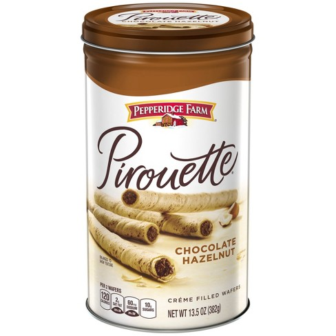Pepperidge Farm® Pirouette® Crème Filled Wafers Chocolate Hazelnut Cookies, 13.5oz Tin - image 1 of 6