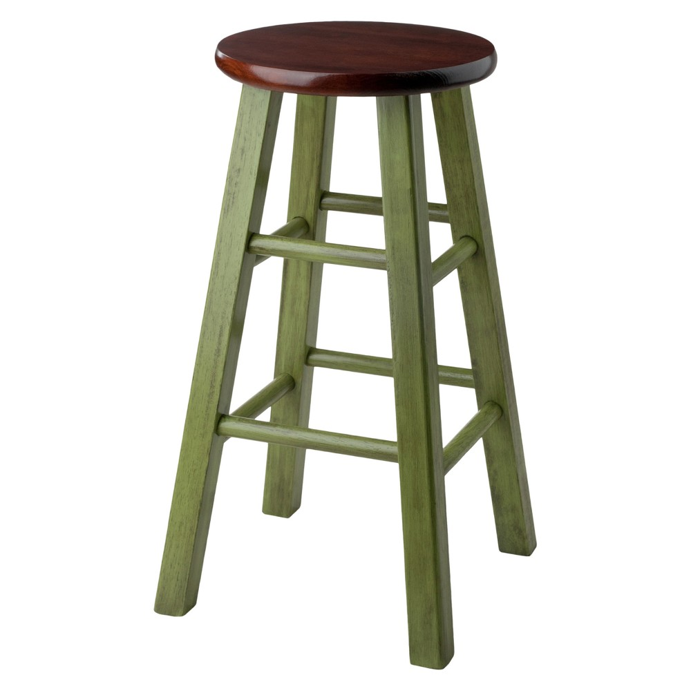 "Image of ""24""""Ivy Counter Stool - Green - Winsome"""